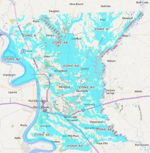 East Baton Rouge Parish Flood Map