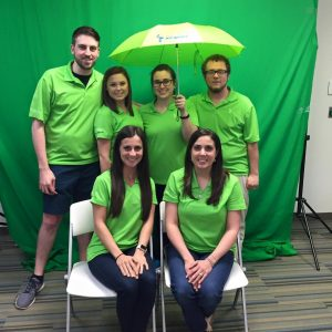 The Pelican Team in Green for St. Patrick's Day