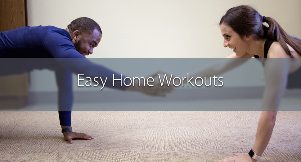 Easy Home Workouts - No Gym Required Blog Header