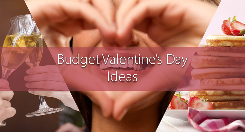 budget valentine's day ideas - champagne, pancakes, heart