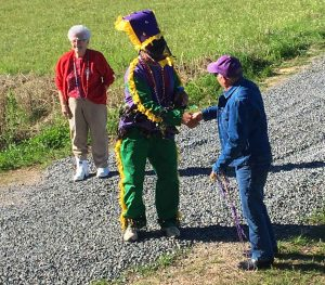Courir de Mardi Gras Captain Meets Cajun Land Owner for Chicken Chase