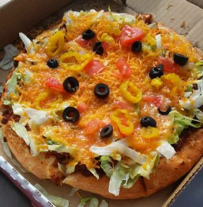 Taco Pizza from Kevin's in Clinton, Louisiana (Best Pizza)