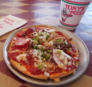 Tony's Pizza in Lake Charles (Best Pizza in Louisiana)