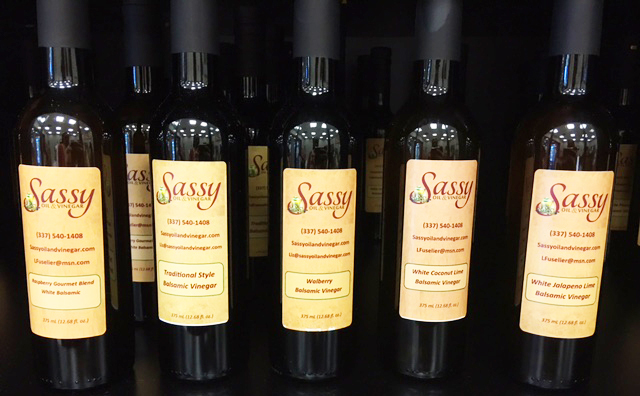 Sassy Oil and Vinegars Display