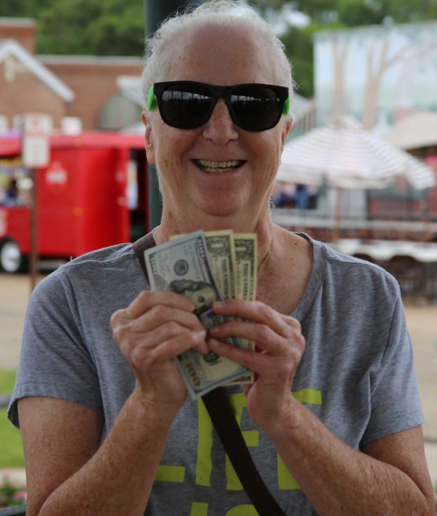 $100 Winner Vada Stithem at Spring Fest