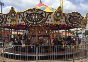 Carousel at Jambalaya Festival in Gonzales Louisiana