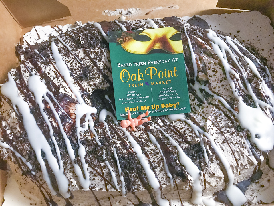 Oak Point Fresh Market Oreo King Cake Watson Louisiana