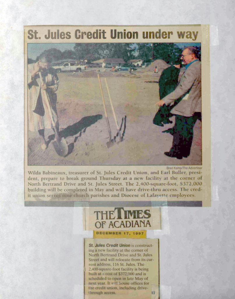 St. Jules Credit Union Groundbreaking Article - The Times of Acadiana