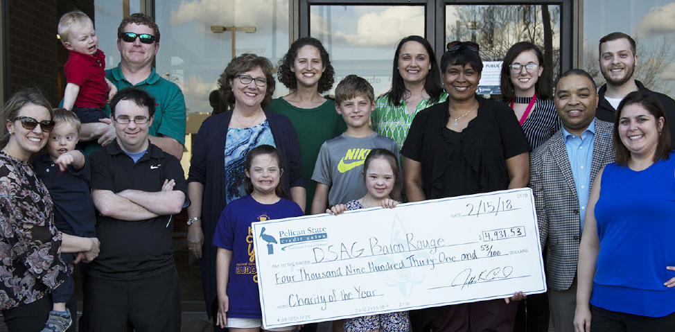 Pelican State CU Down Syndrome Awareness Group Check Presentation