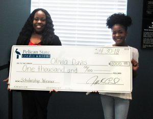 Caddo Parish 2018 Team Pelican Scholarship Winner Olivia Davis