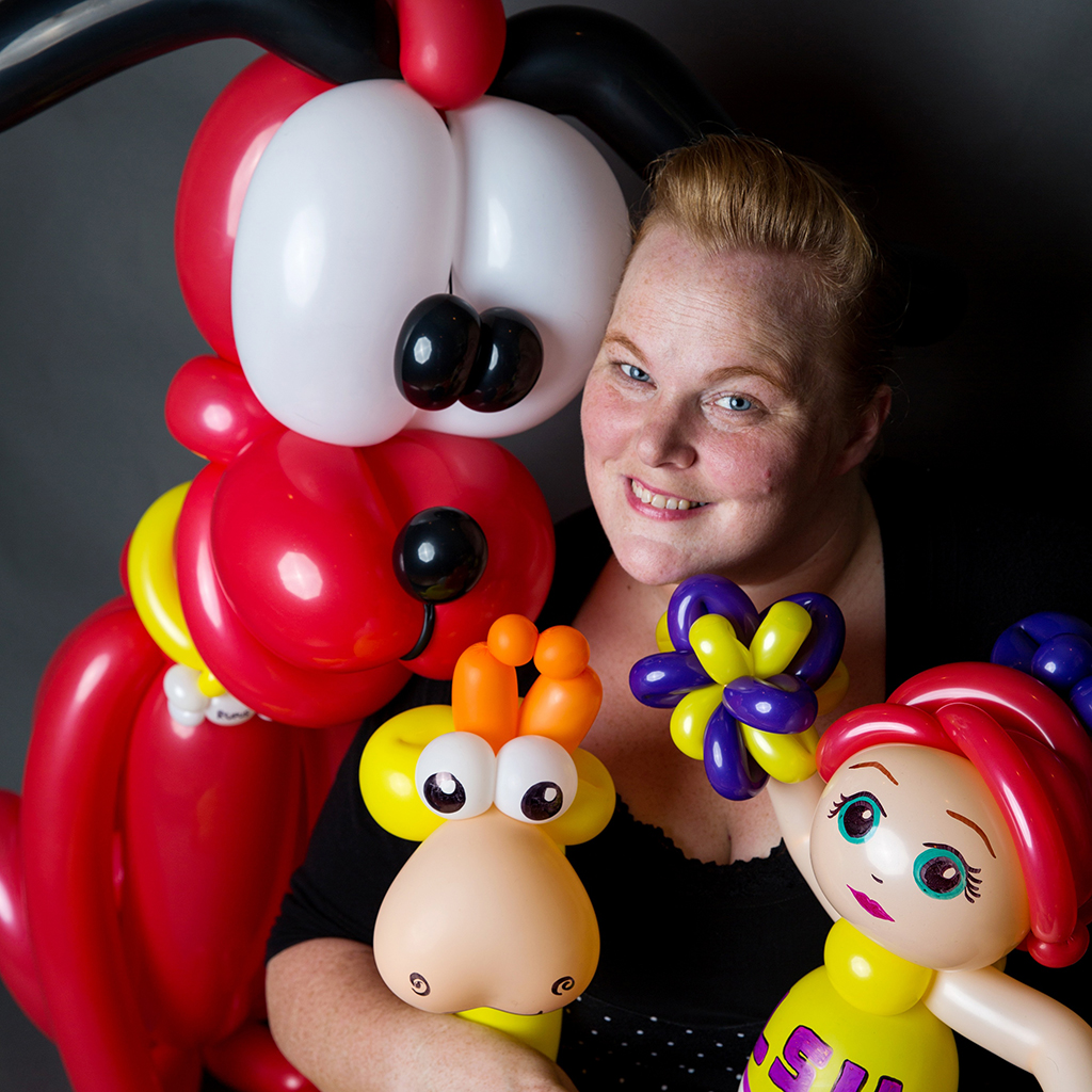 Stephanie Morace of Balloonatics with Balloon Creations