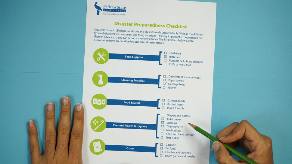 Disaster Preparedness Checklist