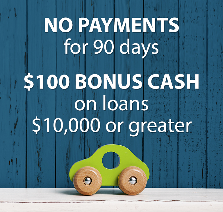 No payments for 90 days - 5.99% APR* - Up to $5,000 - Pay back over 15 months